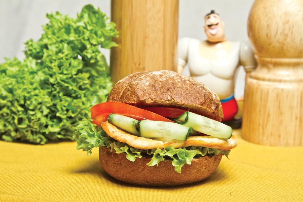 Мини-бургер с курицей